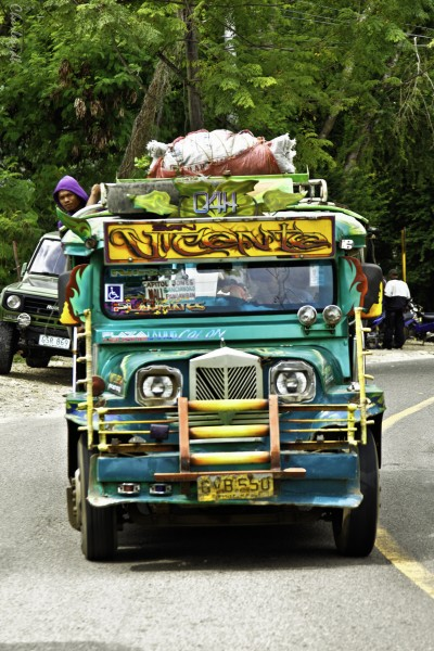 "One of Cebu's colourful ""jeepneys"". Photo (CC) BY-NC-ND by Charles Van den Broek"