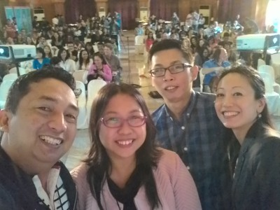 A selfie of the panel. Courtesy Ruben Licera. Used with permission.