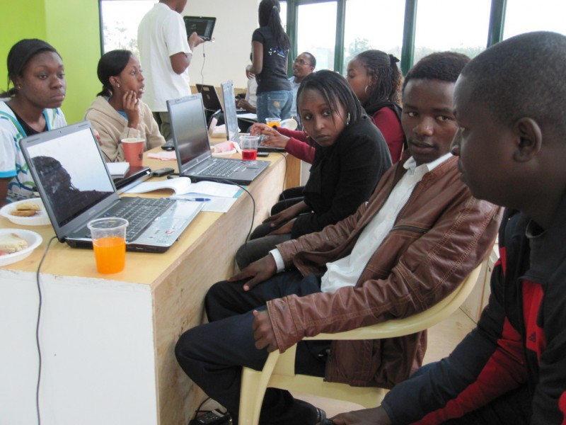 Hackathon at iHub in Nairobi, Kenya. Photo by Eric Hersman via Flickr (CC BY 2.0)